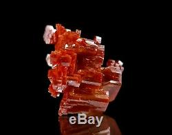 Pièce Unique Rouge Cerise Vanadinite Jumelées Floater Cristal # 5