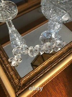 Pièces Antiques Prisms Vintage Verre Coupe Cristal Lustre 90 Pièces De Prism L