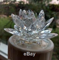 Porte-bougie Lilly Eau De Cristal Swarovski Lotus 3 Pièces
