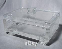 Quartz Boîte En Cristal Deux Pièces Avec Quartz Clair