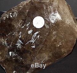 Quartz Fumé Énorme 4 KG Gros Morceau Smokey Quartz Cristal Australien Gros Morceau