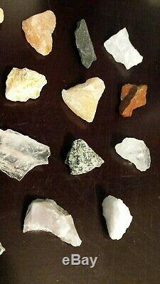 Rare! 15 Piece Set-100% Véritable / Authentique Naturel Azeztulite Crystal Set Pierre