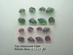 Rare Alexandrite Rugueux 1.00ct 8 Pièces Gemme Russie Gemme Couleur Changer Vert Violet