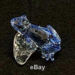 Rare Retraité Cristal Swarovski Blue Dart Frog 2009 Piece Event 955439 Mint Boxed