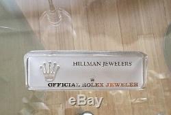 Rare Rolex Montre Publicité Cristal Contre Piece Nom Panonceau