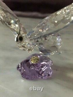 Retraité Cristal Swarovski Papillon / Violet Flower Scs Piece Event 2013 1142859