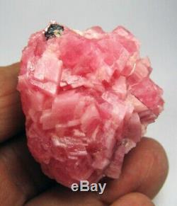 Rhodochrosite Red Cristaux Et Sphalerite Du Pérou. Piece Unique Couleur
