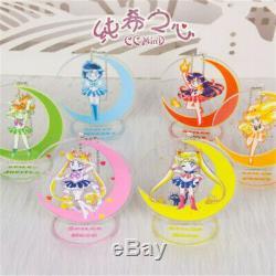 Sailor Moon Debout Acrylique Porte Keychain Mignon De Cristal 13 Pièces Set