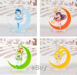 Sailor Moon Titulaire Acrylique Porte-clé Cristal De Bande Dessinée Mignonne Cristal 13 Pièces Ensemble