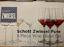 Schott Zwiesel Pure Collection Tritan Crystal 8 Piece Wine Glass Set