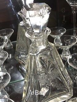 Set À Boire En Cristal De Baccarat 7 Pièces