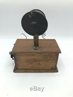 Spark Gap Antique Vintage Émetteur Cristal Radio 2 Pièces Untested