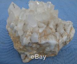 Spécimen D'affichage De Points En Cristal Naturel Au Quartz Blanc, Grande Pièce, 55 Lb 14