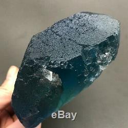 Spécimen Minéral Cristallin En Cristal De Fluorite Vert Bleu D4 900g
