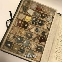 Spécimen Minéral Vintage Japonais Fossile Précieux 35 Pièces Antique Tokyo Retro