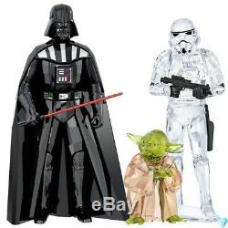 Star Wars Darth Vader Storm Trooper Yoda 3 Piece Set 2018 Swarovski Crystal Set