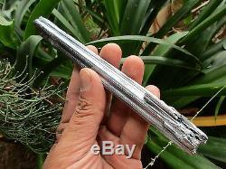 Stibnite Crystal, Jiangxi En Chine, 17x2.2cms. Piece Knarly