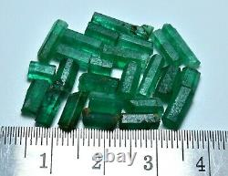 Superbe Green Color Rough Natural Emerald Crystal Lot (25 Pieces)19 Carat