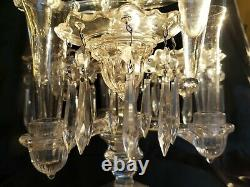 Superbe Vintage Cambridge Glass Crystal Candelabra 14 14 Pièces Magnifiques