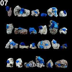 Superbes Cristaux Cavansite Natural Mineral Specimen (24 Pièces À Plat) # Ca07