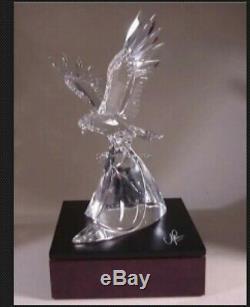 Swarovski 1995 Limited Edition Cristal Figurine Eagle Résister À (piece Dernier)