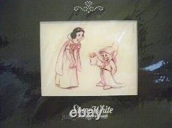 Swarovski Blanche-neige Et Les Sept Nains Ensemble De 9 Pièces + Affichage Et Lithographie Bnib