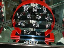 Swarovski Chinese Zodiac Miniature 12 Pièces Set & Display Mib