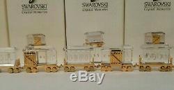 Swarovski Cristal Mémoires Train Miniature 8 Pièces