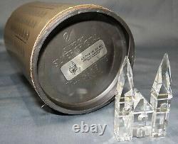 Swarovski Crystal 7474 Silver City Buildings Collection W Arbres Mib 11 Pièces