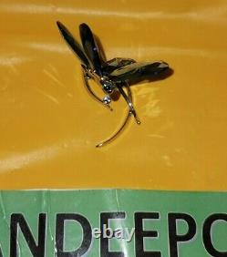 Swarovski Crystal Blue Dragonfly Insect Figurine Retraitée Scs Event Piece