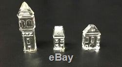 Swarovski Crystal City Set 11 Pièces Lot Château Eglise Cathédrale Hall House Arbres
