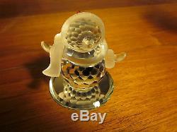 Swarovski Crystal Crystal Bonhomme De Neige Avec Boîte D'origine Et Coa Retraité Piece