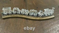 Swarovski Crystal Locomotive Seven Piece Train Set Piste Originale