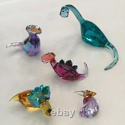 Swarovski Crystal Lovlots Dinosaurs (five Piece Set) Menthe
