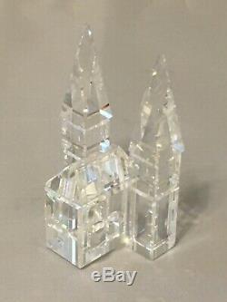 Swarovski Crystal Silver 9 Piece Ville Village (6 Bâtiments)