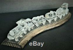 Swarovski Crystal Silver Complete Train Withwooden Track (7 Pieces)