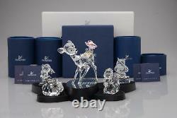 Swarovski Disney Complet Bambi Set 5 Pièces + Affichage