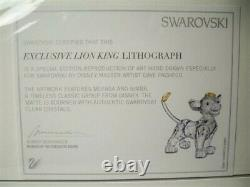 Swarovski Disney Lion King Ensemble Complet De 6 Pièces + Lithographie Bnib Très Rare