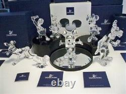 Swarovski Disney Mickey Mouse Showcase Collection Complete 8 Pièces Mib Coa