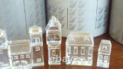 Swarovski Figurines Crystal City Ensemble De 8 Pièces Avec Des Boîtes