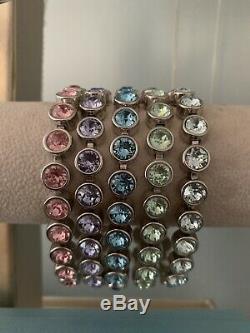 Swarovski Pièces Multiples Jewelry- Cristal Pierre De Touche, Rare Bracelets De Glace