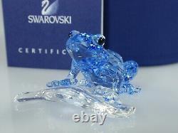 Swarovski Scs Blue Dart Frog 2009 Événement Pièce Mib #955439 Signé