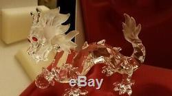 Swarovsky Cristal Figurine Dragon 1997 Pièce Limitée. Boîte D'origine Inclus