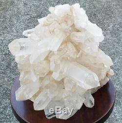 Très Grand Naturel Clair De Cristal De Quartz Cluster 30 Lb Superbe Écran Piece