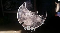 Un Sculpté À La Main En Cristal De Quartz Translucide Abstraite De Lune Avec Affichage Stand Piece