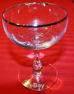 Verre À Pied En Cristal Avec Garniture Platine, Collection Fostoria Trousseau, 20 Pièces