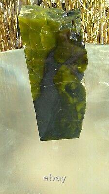 Vert Australien Prehnite Semi Transparent Morceau Coupé Et Poli 19,7 Livres