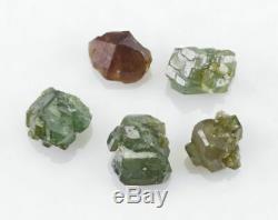 Vert Demantoid Garnet 5 Pièces Lot De Green Dragon Mine, La Namibie, L'afrique 25966