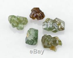 Vert Demantoid Garnet 5 Pièces Lot De Green Dragon Mine, La Namibie, L'afrique 25971
