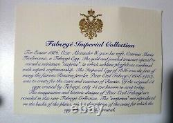 Vintage Faberge Czarina 4 Pièces Vodka Set Decanter 3 Glass Imperial Collection